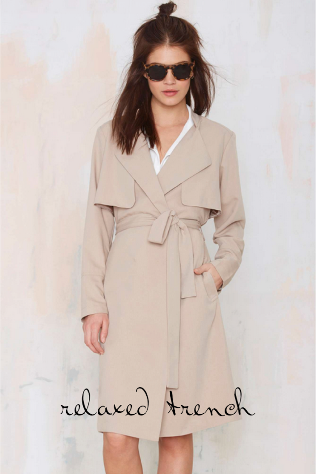 Nasty Gal Relaxed Trench